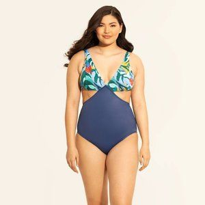 Miracles by Beach Betty Navy Blue Cutout Swimsuit